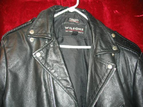 Mens Wilsons Bikers Leather Jacket Coat Thinsulate L