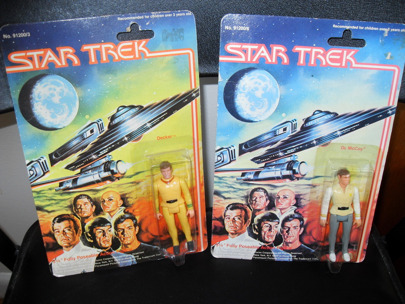 1979 Mego Star Trek Figures Dr. McCoy and Decker in the Pack