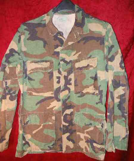 Mens US Army Military Combat Camouflage Shirt S Camo