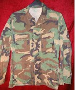 Mens US Army Military Combat Camouflage Shirt S Camo - $28.85