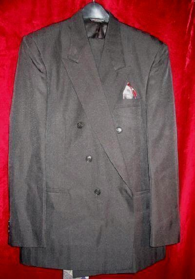 Mens Raffinati Black Suit Pants Jacket Tie 40 w/Bonus USA