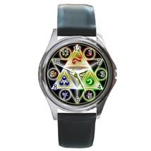 New The Legend of Zelda Triforce Symbol Leather Watch wristwatch Gift - $10.80