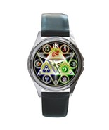 New The Legend of Zelda Triforce Symbol Leather Watch wristwatch Gift - $10.80