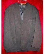 Mens Squire Club Black Suit Sports Jacket 50 R Bonus Bag - $37.50