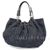 CHANEL Coco Cabas GM Denim Blue Leather A46887 Shoulder Bag Authentic 48... - $1,154.00