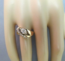 14K Yellow Gold Diamond Marquise Ring .60 CTTW 4.79 Grams Size 6.5 Gorge... - $554.39