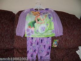 Disney Fairies 2 Pc Pajama Set Purple Tinkerbell Size 2T Girl's NEW LAST... - $17.01