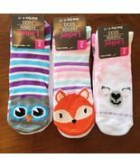 Womens socks, Pack of 6 animal critter novelty sock, llama owl fox - $16.99
