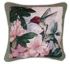 """17"""" Hummingbird Bird Nature Floral Tapestry Cushion Pillow  - $25.00"""