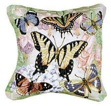"""12"""" Butterfly Butterflies Floral Tapestry Cushion Pillow  - $14.50"""