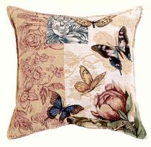 """17"""" Butterfly Floral NatureTapestry Cushion Pillow  - $25.00"""
