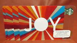 Lot of 4 Starbucks 2015 JOY Gift Cards New with Tags - $11.08