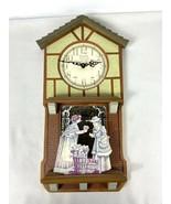 Elgin 89508 Quartz Wall Clock Flower Boutique - $64.95