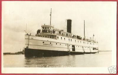 STEAMER MANITOULIN Little Current Ontario Ship RPPC
