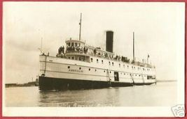 STEAMER MANITOULIN Little Current Ontario Ship RPPC - $29.99