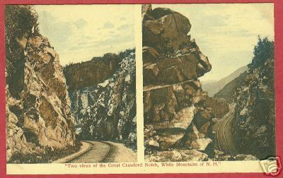 WHITE MOUNTAINS NH Great Crawford Notch RR 1912