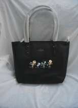 NWT/COACH X PEANUTS/ICE SKATING/CITY TOTE/CHARLIE BROWN/SNOOPY/LUCY/SALLY - $350.00