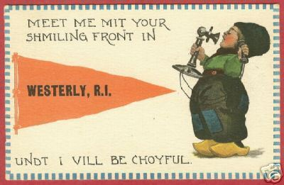 Westerly RI Postcard Pennant Dutch Phone 1913 BJs
