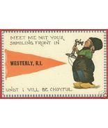 Westerly RI Postcard Pennant Dutch Phone 1913 BJs - $7.00