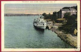 Fredericton New Brunswick Nb Saint John River Ship 1935 - $8.00