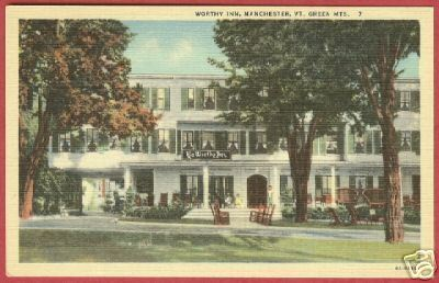 Primary image for MANCHESTER VERMONT Worthy Inn Green Mts VT PC BJs