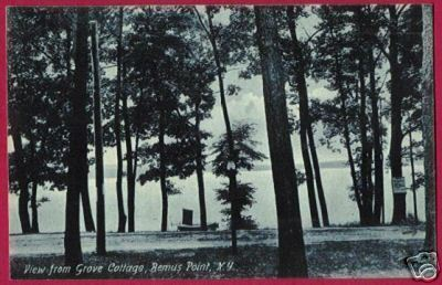 BEMUS POINT NEW YORK View fr Grove Cottage 1908 NY