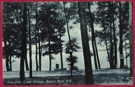 BEMUS POINT NEW YORK View fr Grove Cottage 1908 NY - $7.50