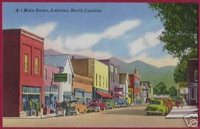 ANDREWS NORTH CAROLINA Main Street Cars Linen NC