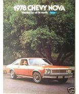 1978 Chevrolet Nova Brochure - $10.00