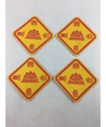 Lot of 4 Red Hook Brewery Seattle Washington Beer Bar Coasters - $14.03