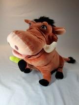 "Disney Parks Stuffed Pumbaa Plush 15"" Warthog w/Bugs Lion King Pumba (A) - $9.90"