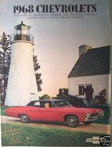 1968 Chevrolet Cars Full Line Brochure - Corvette, Camaro, Bel Air, Nova & More! - $13.00