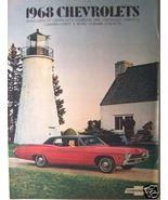 1968 Chevrolet Cars Full Line Brochure - Corvette, Camaro, Bel Air, Nova... - $13.00