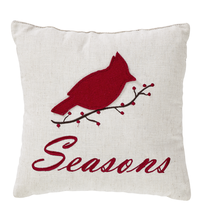"Seasons Greetings 2-pc Pillow Set - 10""x10"" - VHC Brands -Country Farm Christmas"