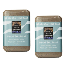 One With Nature Dead Sea Mud Soap Bar - 7 oz (2pk) - $10.00