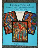 Le Mans Cathedral Stained Glass Windows Postcards 24 cards - $5.00
