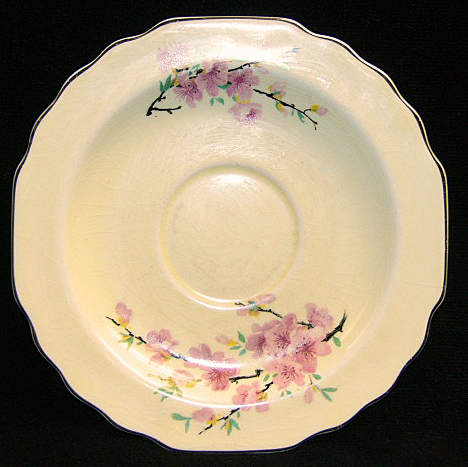 Lido WS George Canarytone Saucer 123A Cherry Blossoms
