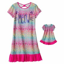 Girl and Doll Matching Meow Cheetah Nightgown Clothes ft American Girl D... - $16.99