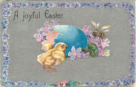 Joyful Easter Vintage 1908 Post Card  - $3.00