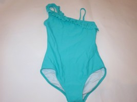Hanna Andersson Girls 1P Bathing Suit Laser cut Ruffled 130 US 8 NWT - $34.60