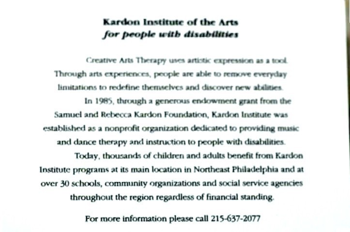 Kardon Institute of the Arts Note Cards