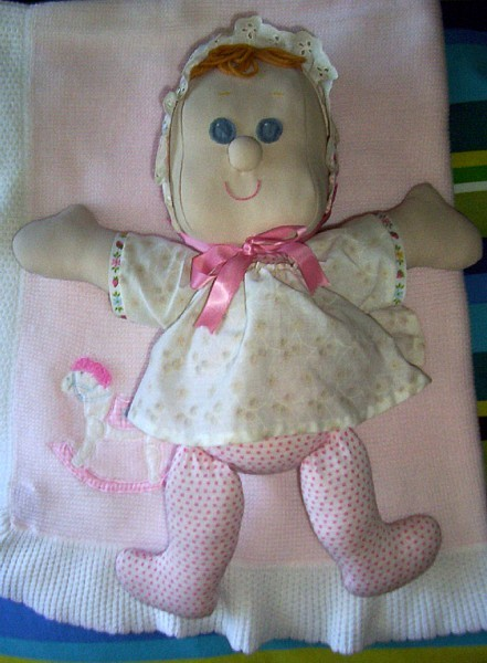 HANDCRAFTED cloth DOLL fabric stuffed toy handmade pattern Eloise