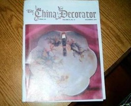 The China Decorator Magazine December 1976 Vol 21 No 12 - $3.00