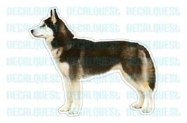 SIBERIAN HUSKY-Dog Decal-sticker dogs car got gift - $4.89