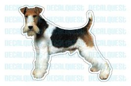 WIRE FOX TERRIER-Dog Decal-sticker car got dogs - $4.89
