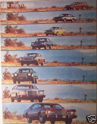Primary image for 1976 Ford Cars Full Line Brochure - Mustang II, Maverick, Pinto, Torino & More