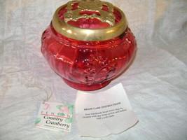 Fenton Glass Country Cranberry Potpourri Jar #1989 CC - $83.68