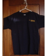 LUFTHANSA AIRLINES LARGE NAVY T-SHIRT - $5.00