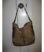 COACH Suede Beige & Brown