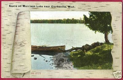 Primary image for CLARKSVILLE MICHIGAN Morrison Lake 1909 MI